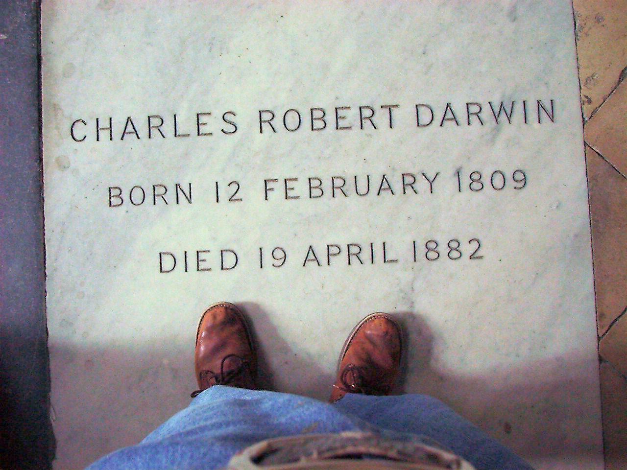 Charles Darwins grave stone